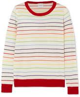 Madeleine Thompson Pigeon Striped Ribbed Cashmere Sweater - Cream