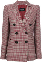 Giorgio Armani houndstooth blazer jacket - women - Silk/Viscose/Wool - 42
