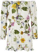 Glamorous **Floral Print Bardot Playsuit