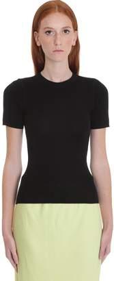Alexander Wang T-shirt In Black Wool