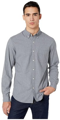 J.Crew Slim Stretch Secret Wash Shirt in Heathered Organic Cotton (Smoky Slate) Men's Clothing
