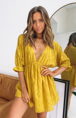 Beginning Boutique Barren Nights Dress Mustard
