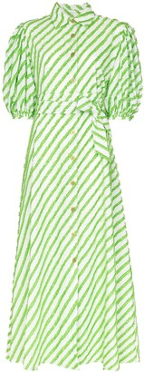 Evi Grintela Iris striped maxi dress