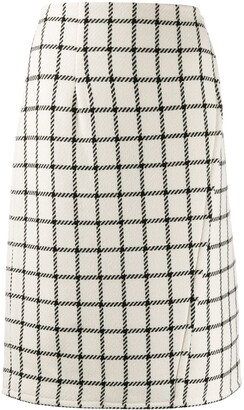 Gianluca Capannolo High Waist Check Skirt
