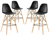 Modway Pyramid Dining Side Barstools (Set of 4)