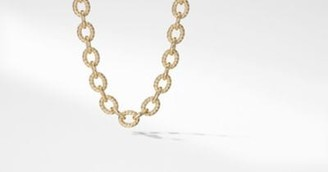 David Yurman Large Oval Link Chain Necklace In 18K Gold