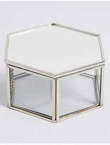 M&S Collection Hexagon Glass Trinket Box