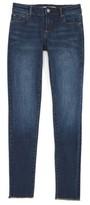 Tractr Girl's Fray Hem Skinny Jeans