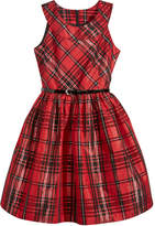 Bonnie Jean Metallic Plaid Fit & Flare Dress, Big Girls (7-16)