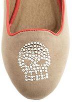 Charlotte Russe Studded Skull Velvet Loafer