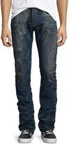 PRPS Barracuda Distressed-Wash Denim Jeans, Dark Blue