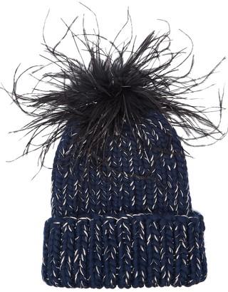 Eugenia Kim Rain Navy Wool-blend Beanie