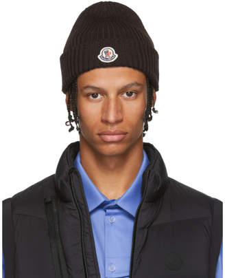 Moncler Brown Knit Beanie