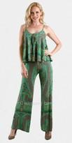 Voom Green Graphic Print Jumpsuit