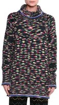 Missoni Space-Dye Chunky Cashmere Turtleneck Sweater, Dark Gray/Multi