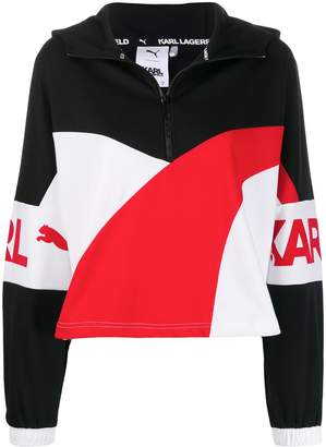 Karl Lagerfeld Paris Puma X half zip track top