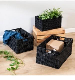 Honey-Can-Do Set of 3 Nesting Rectangle Maize Baskets