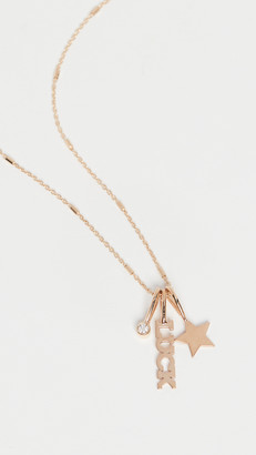 Zoë Chicco 14k Gold Itty Bitty Luck Charm Necklace