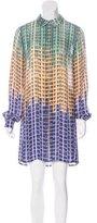 Mary Katrantzou Ombré Silk Shirtdress