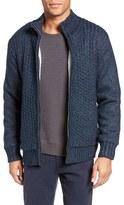 Schott NYC Men's Zip Front Sherpa Sweater Jacket