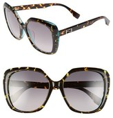 Fendi Women's 56Mm Retro Sunglasses - Havana/ Spotted Orange