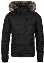 Schott Nyc Black Zip Through Padded Jacket