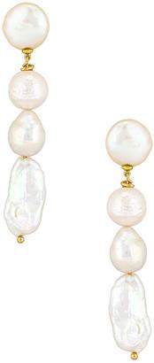 joolz by Martha Calvo Baroque Drop Pearl Earrings