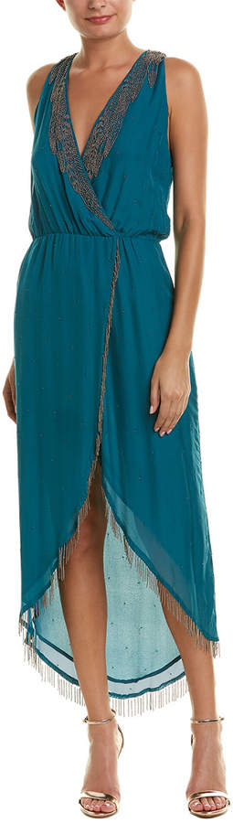 Haute Hippie Falcon Silk Cocktail Dress
