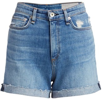 Rag & Bone Nina High-Rise Cuffed Denim Shorts