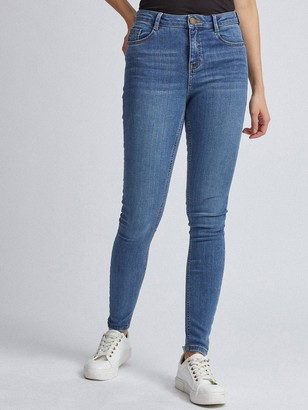 Dorothy Perkins Shape And Lift Skinny Jeans - Midwash