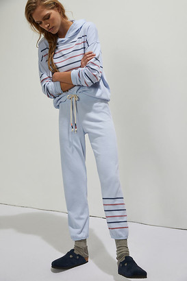 Sundry Tana Striped-Cuff Joggers By in Blue Size S