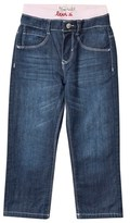 Levi's Mid Wash Jeans with Pink Branded Waistband