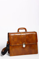 Bosca Men's Double Gusset Briefcase - Brown