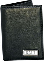 JCPenney Leather Trifold Wallet with Engravable Plaque