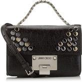 Jimmy Choo REBEL SOFT MINI Black Washed Crinkled Leather Mini Cross Body Bag with Studs