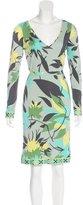 Emilio Pucci Long Sleeve Floral Print Dress