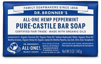 Dr. Bronner's All-One Hemp Peppermint Castile Bar Soap 140G