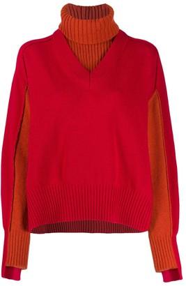 Cédric Charlier layered knit jumper