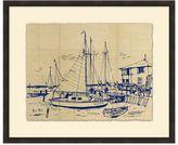 Pottery Barn Harborside Drawing Framed Print