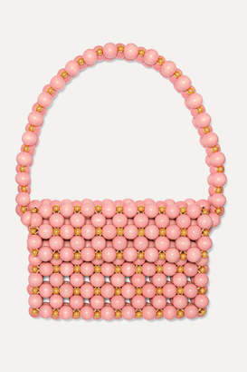 Vanina - Bolero Beaded Wooden Shoulder Bag - Pink