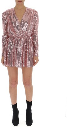 Amen Sequin Embellished Mini Dress