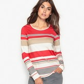 Anne Weyburn Striped Cotton & Modal T-Shirt