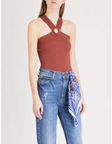 Sandro Halterneck knitted top