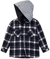 Andy & Evan Hooded Plaid Shirt (Toddler & Little Boys)