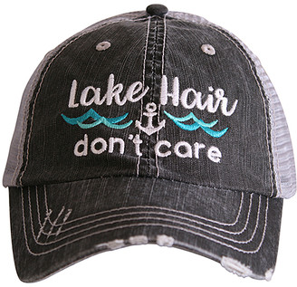 Katydid Collection Women's Baseball Caps GRY_MNT - Gray & Mint 'Lake Hair Don't Care' Waves Trucker Hat