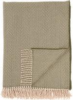 Barneys New York Havana Herringbone-Pattern Throw