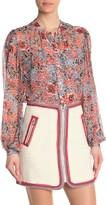 Veronica Beard Ashlynn Floral Silk Blouse