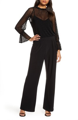 Julia Jordan Velvet Burnout Jumpsuit