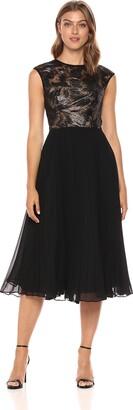 Carmen Marc Valvo Women's Jewel Neck Coctail Dress