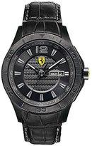 Ferrari Men's 0830093 Scuderia Analog Display Quartz Black Watch